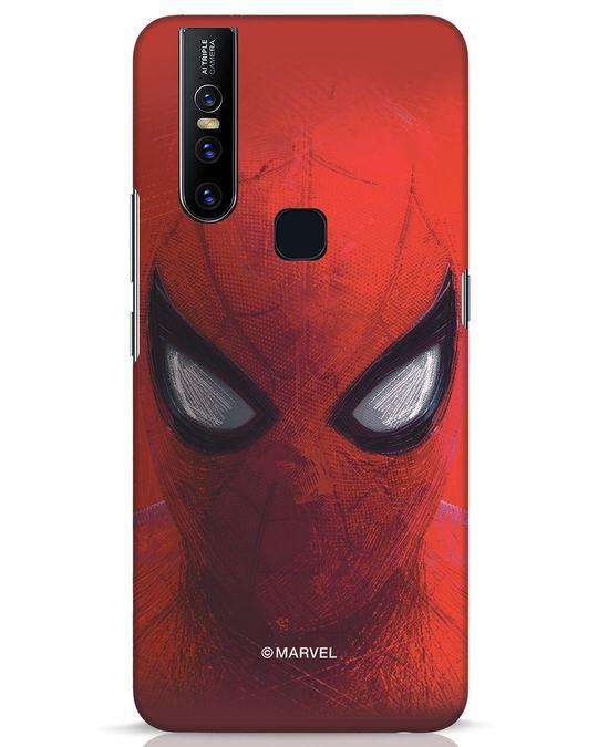 Shop Spiderman Red Vivo V15 Mobile Cover (AVL)-Front