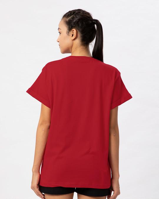 Shop Spidey Logo Boyfriend T-Shirt (FFHL) ( GID )-Back