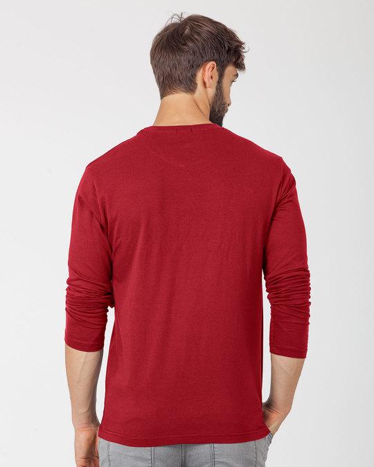 Shop Spidey Logo Full Sleeve T-Shirt (FFHL) ( GID )-Back