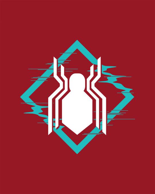 Shop Spidey Logo Full Sleeve T-Shirt (FFHL) ( GID )
