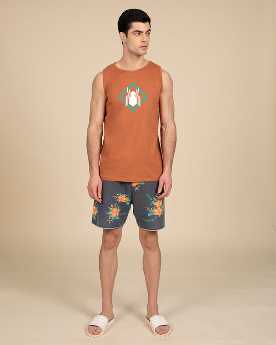 Shop Spidey Logo Glow In Dark Vest (FFHL) ( GID )-Full