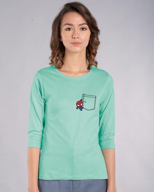Shop Spidey Pocket Round Neck 3/4th Sleeve T-Shirt (AVL)-Back