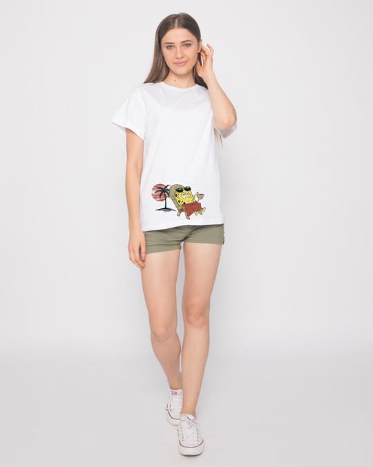 Shop Spongebob Beach Chilling Boyfriend T-Shirt (SBL)