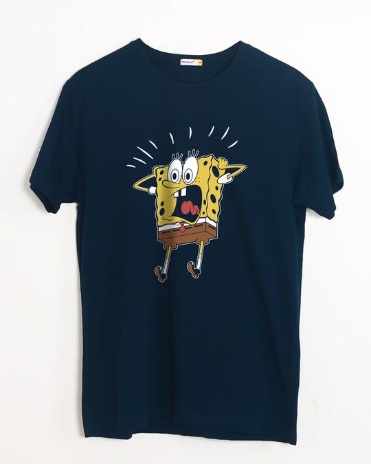 Shop Spongebob Oh My Bob Half Sleeve T-Shirt (SBL)-Front