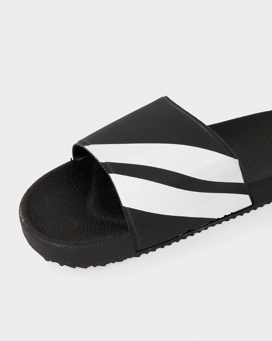 Shop Sporty Black Sliders