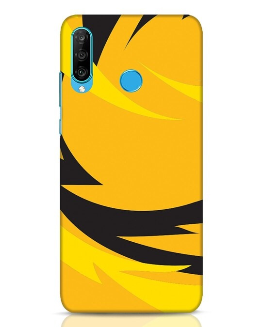 Shop Sporty Yellow Huawei P30 Lite Mobile Cover-Front