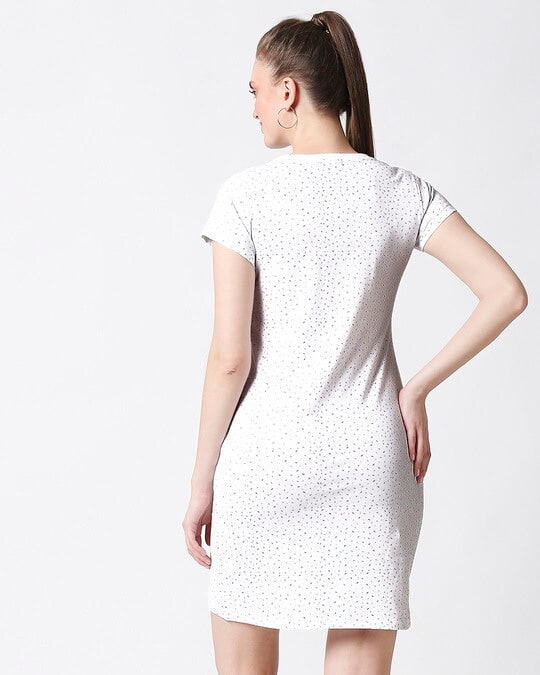 Shop Sprinkles Plain Dresses AOP-Full