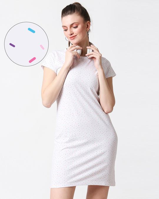 Shop Sprinkles Plain Dresses AOP-Front