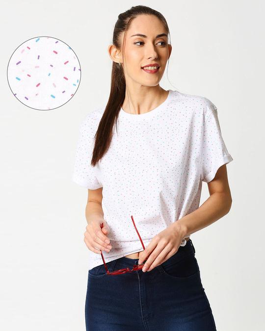 Shop Sprinkles Boyfriend AOP T-Shirts-Front