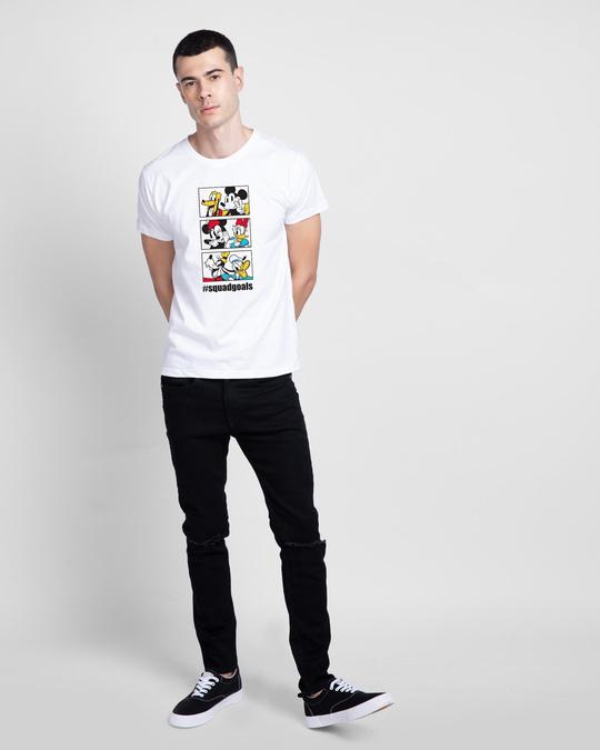 Shop Squad Goals Mickey & Friends Half Sleeve T-Shirt (DL)-Design