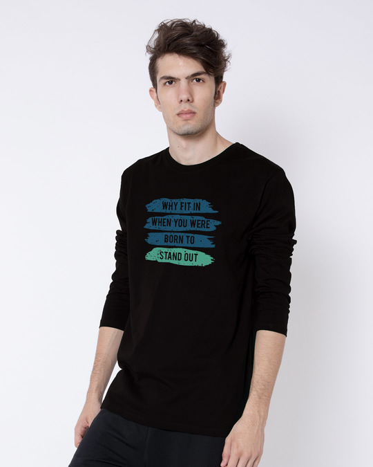 Shop Stand Out Brush Full Sleeve T-Shirt-Back