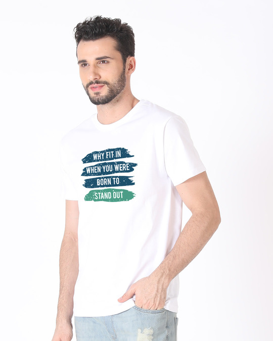 Shop Stand Out Brush Half Sleeve T-Shirt-Full