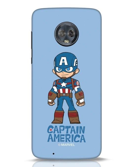 Shop Star Captain America Moto G6 Mobile Cover-Front
