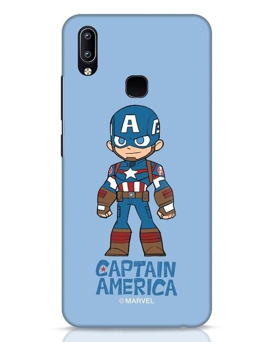 Shop Star Captain America Vivo Y91 Mobile Cover-Front