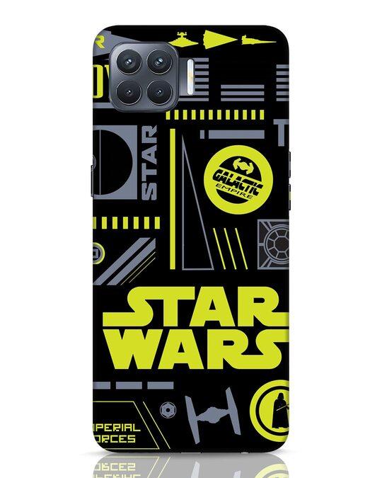 Shop Star Wars Pattern Rebel Oppo F17 Pro Mobile Cover-Front