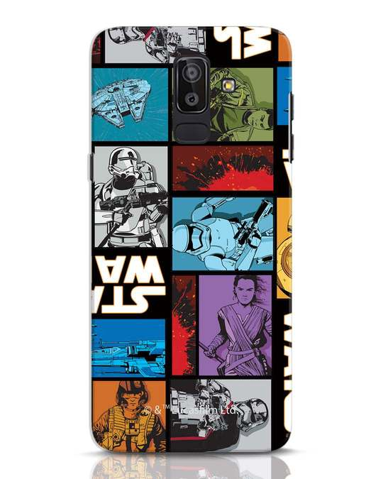Shop Star Wars Retro Samsung Galaxy J8 Mobile Cover (SWL)-Front
