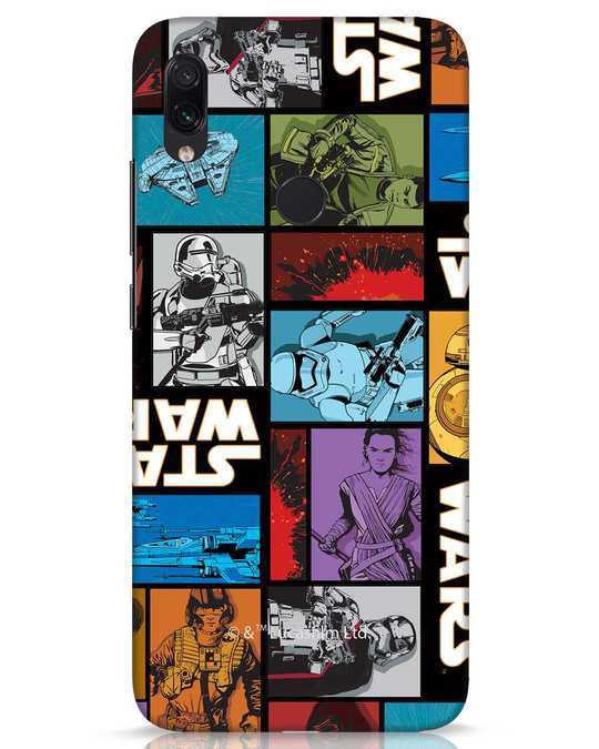Shop Star Wars Retro Xiaomi Redmi Note 7s Mobile Cover (SWL)-Front