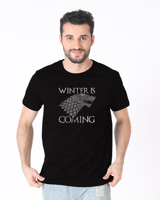 Shop Stark Winter Is Coming Half Sleeve T-Shirt (GTL)-Back