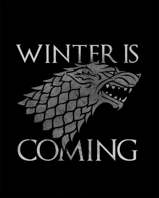 Shop Stark Winter Is Coming Round Neck 3/4th Sleeve T-Shirt (GTL)