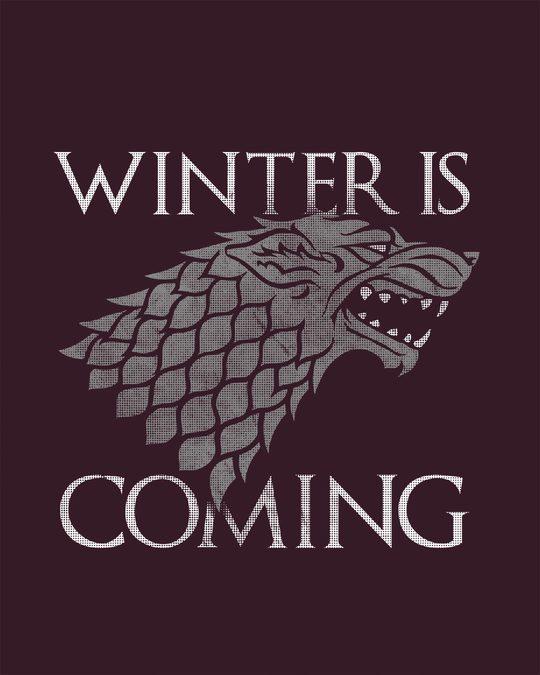 Shop Stark Winter Is Coming Scoop Neck Full Sleeve T-Shirt (GTL)-Full