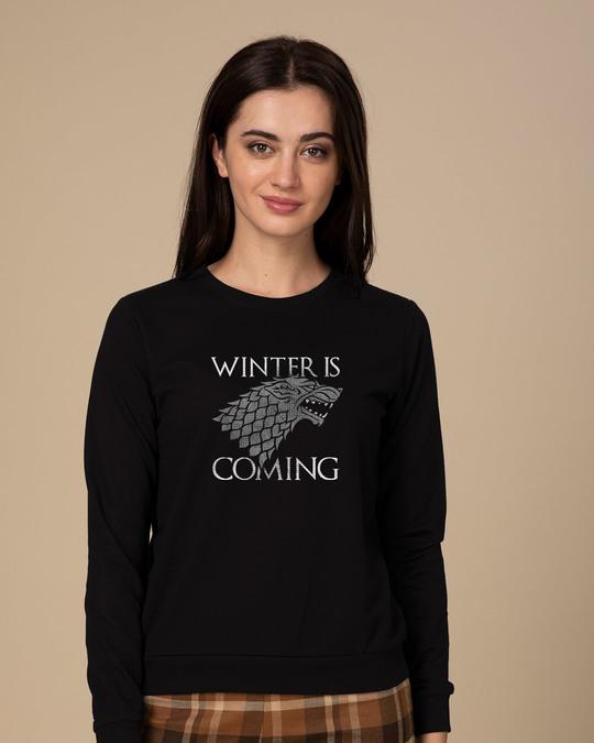 Shop Stark Winter Is Coming Sweatshirt (GTL)-Front