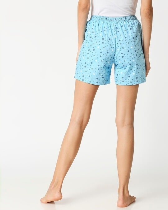 Shop Starry Blue Women's Boxer Shorts-Full