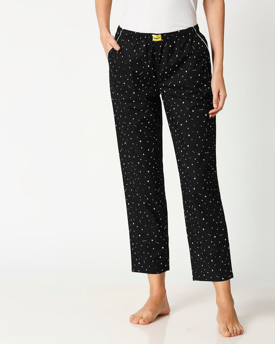 Shop Starry Galaxy All Over Printed Pyjama-Back