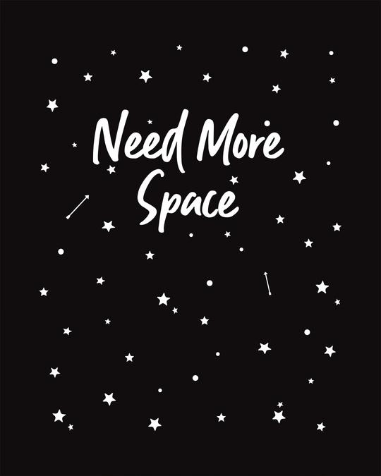 Shop Starry Space Glow In Dark Round Neck 3/4th Sleeve T-Shirt