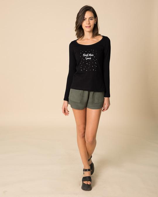 Shop Starry Space Scoop Neck Glow In Dark Full Sleeve T-Shirt -Design