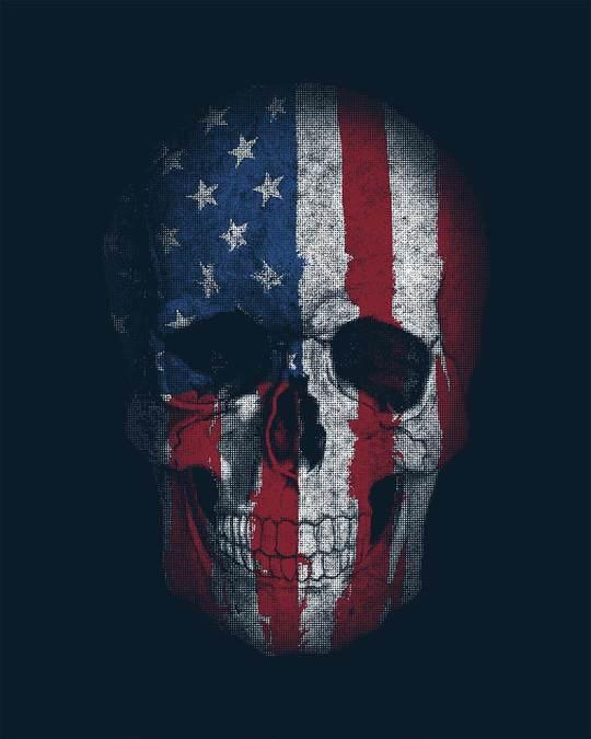 Shop Stars And Stripes Skull Boyfriend T-Shirt
