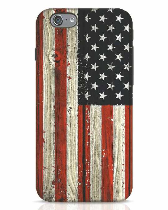 Shop Stars And Stripes Wood iPhone 6s Mobile Cover-Front