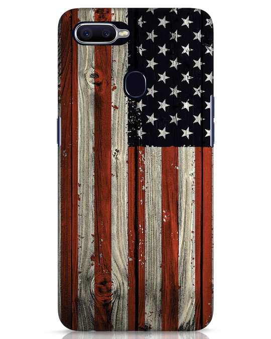 Shop Stars And Stripes Wood Realme 2 Pro Mobile Cover-Front