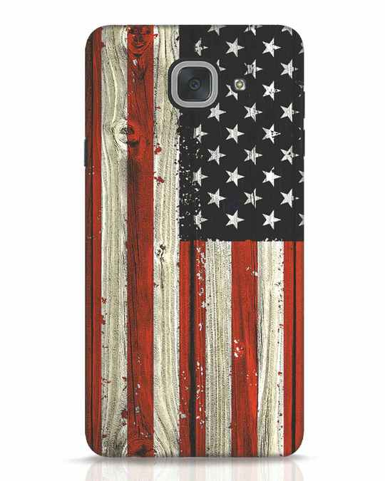 Shop Stars And Stripes Wood Samsung Galaxy J7 Max Mobile Cover-Front