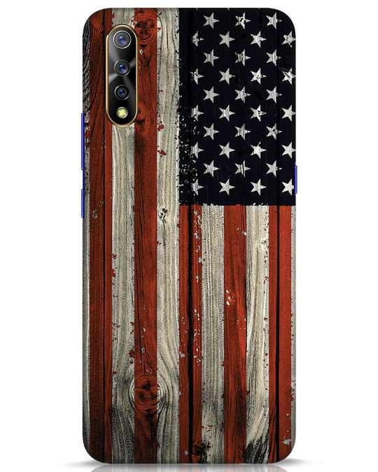 Shop Stars And Stripes Wood Vivo S1 Mobile Cover-Front