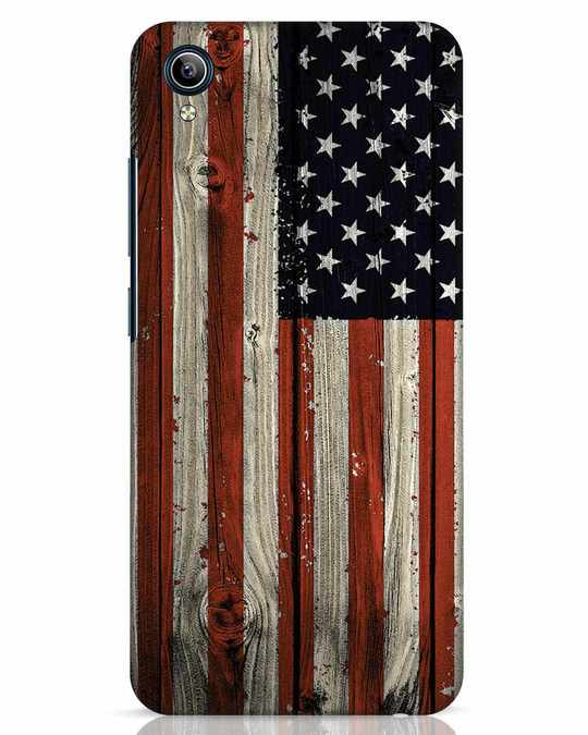 Shop Stars And Stripes Wood Vivo Y91i Mobile Cover-Front