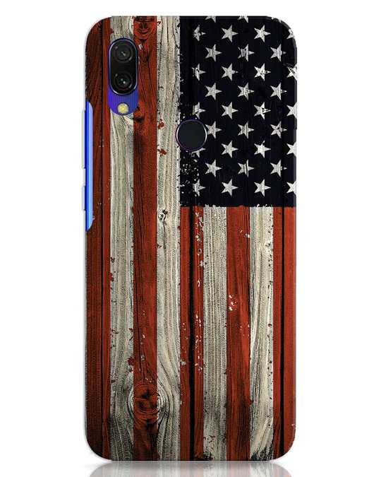 Shop Stars And Stripes Wood Xiaomi Redmi 7 Mobile Cover-Front