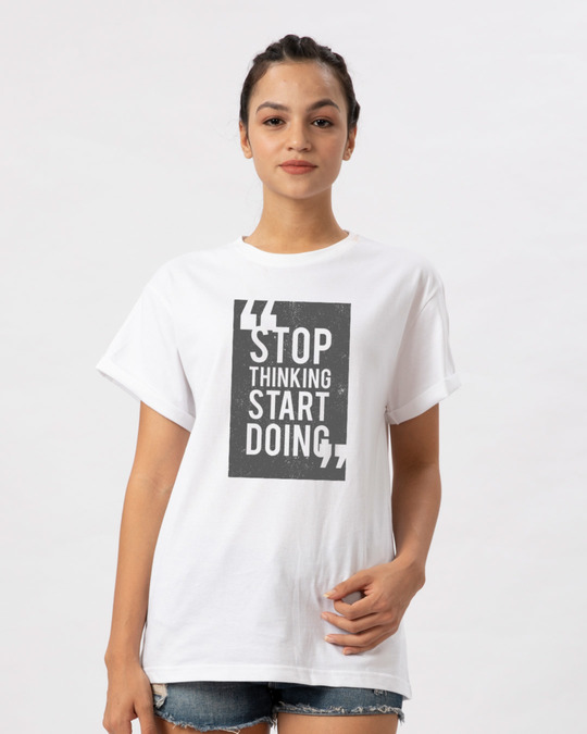 Shop Start Doing Boyfriend T-Shirt-Front