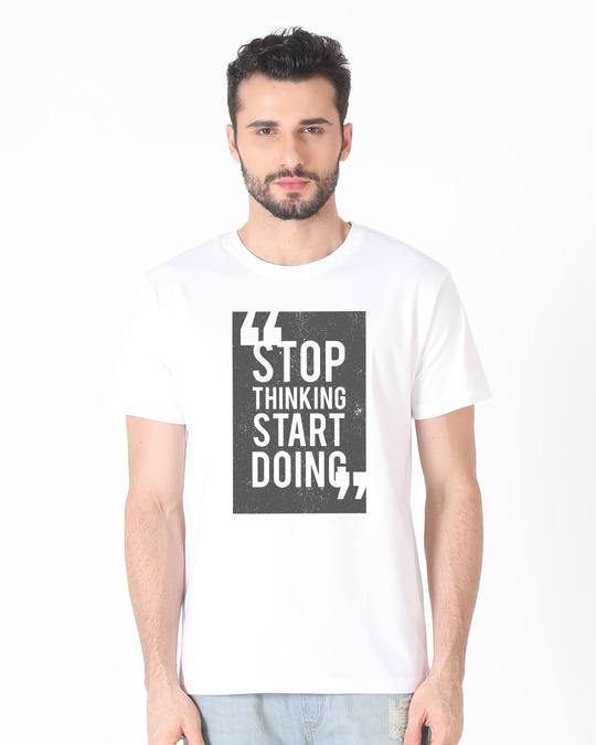 Shop Start Doing Half Sleeve T-Shirt-Back
