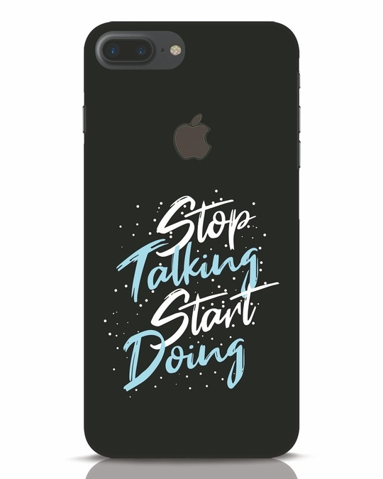 Shop Start Doing iPhone 7 Plus Logo Cut Mobile Cover-Front