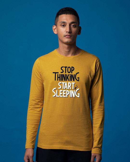 Shop Start Sleeping Full Sleeve T-Shirt-Front