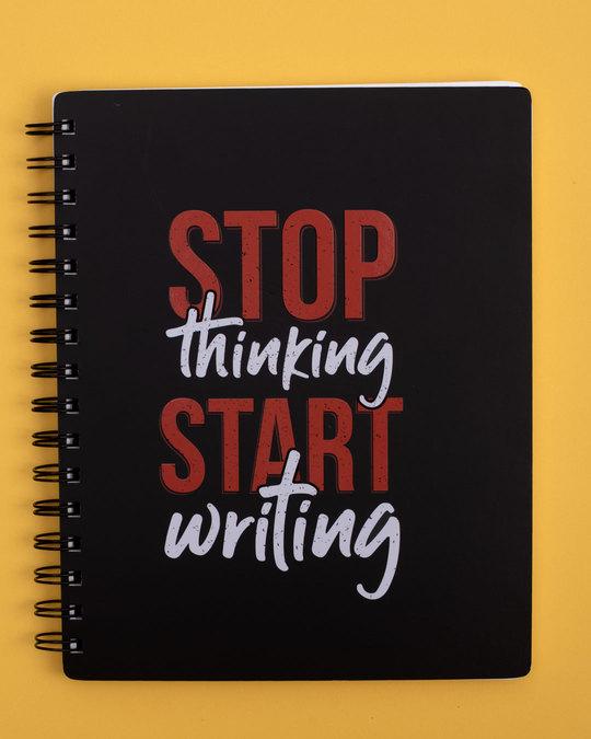 Shop Start Writing Spiral Notebook-Front