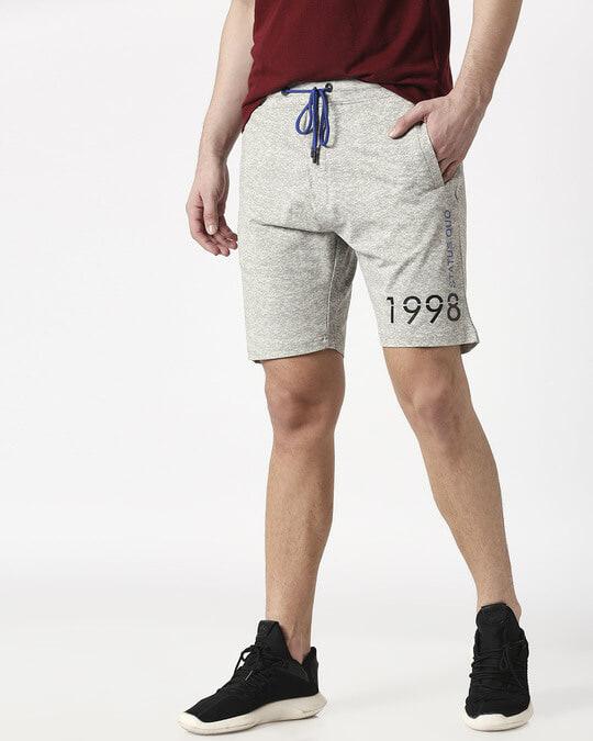 Shop Status Quo Ecru Elasticated Shorts-Back