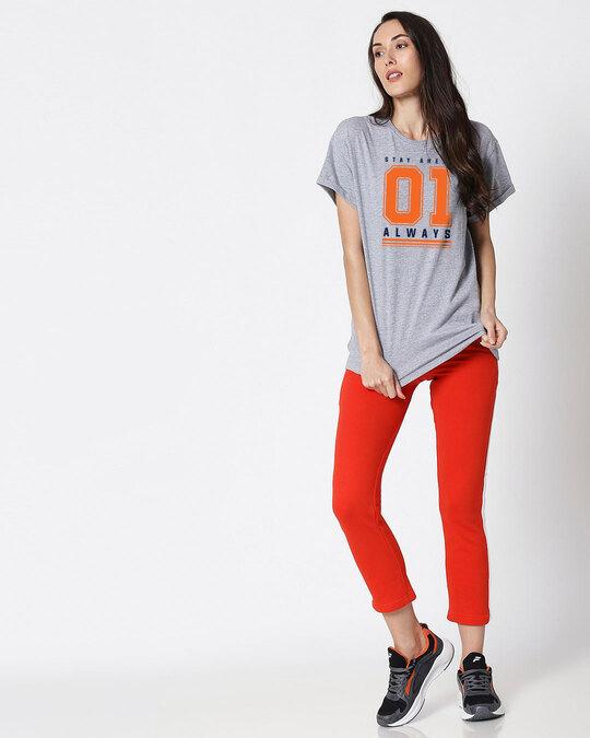 Shop Stay Ahead 01 Women's Half Sleeve Boyfriend T-Shirt