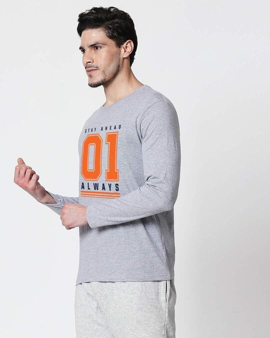 Shop Stay Ahead 01 Men's Full Sleeve T-Shirt-Back