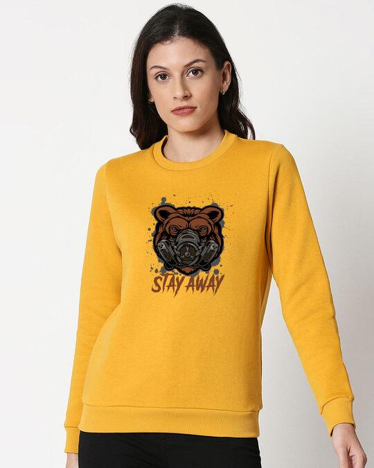 Shop Stay Away Bear Fleece Sweater-Front