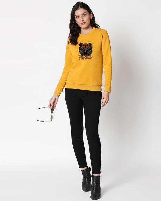 Shop Stay Away Bear Fleece Sweater-Design