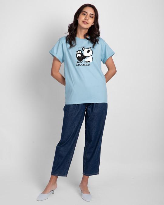 Shop Stay Away Panda Boyfriend T-Shirt-Design