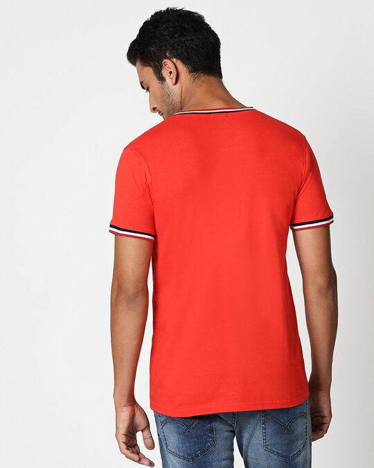 Shop Stay Away Panda Crewneck Varsity Rib H/S T-Shirt-Multicolor-Design