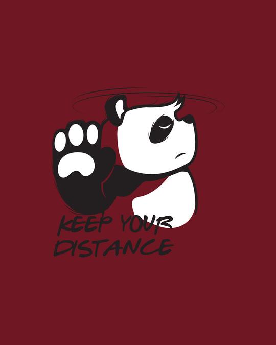 Shop Stay Away Panda Full Sleeve T-Shirt-Full