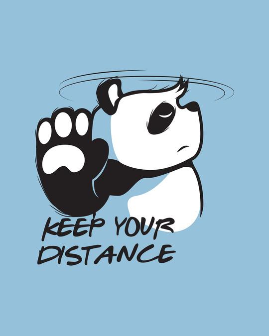 Shop Stay Away Panda Half Sleeve T-Shirt-Full